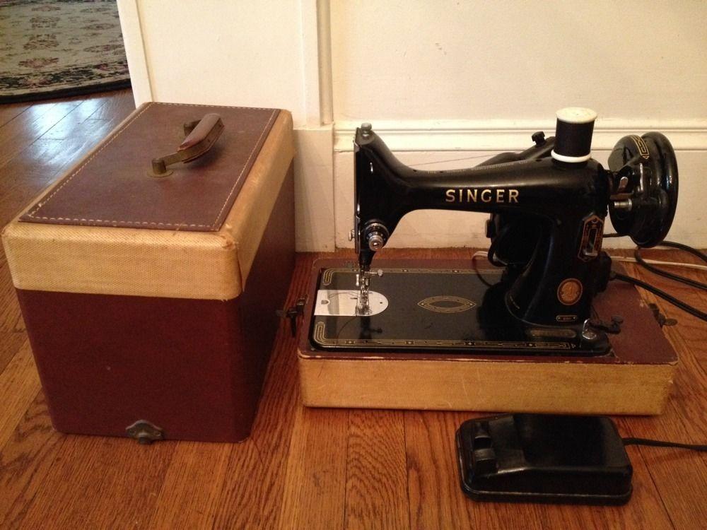 Vtg singer 1950s electric sewing machine 99 k semi industrial