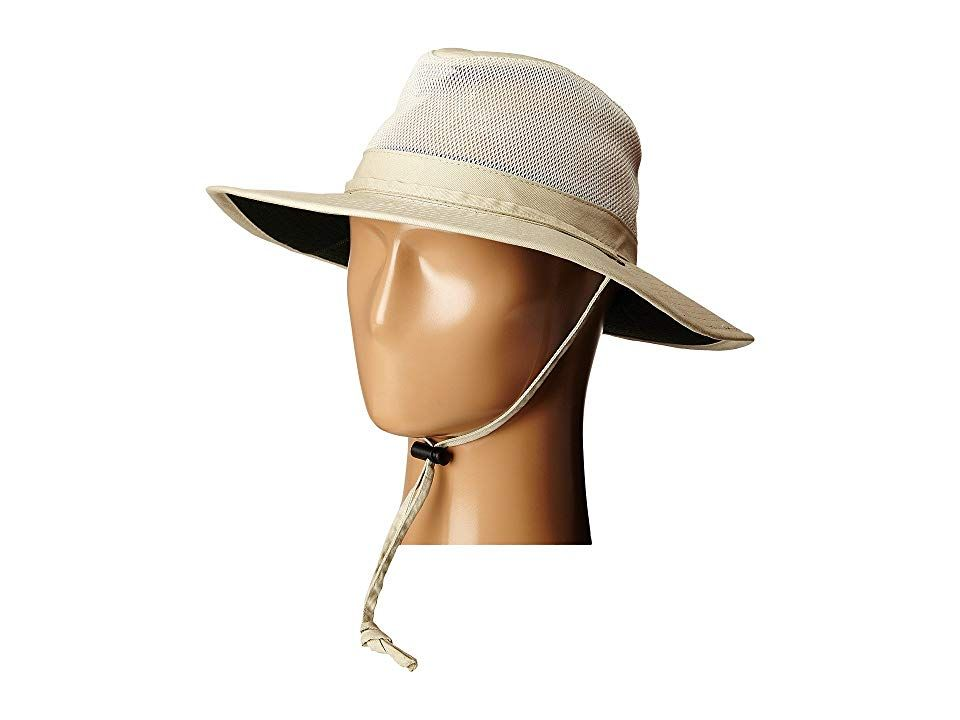 SCALA Solarweave Mesh Safari with Chin Cord Oatmeal Caps Roam the safari in style with this hat from Scala Safari hat with open mesh ventilation at crown Hatband with adj...