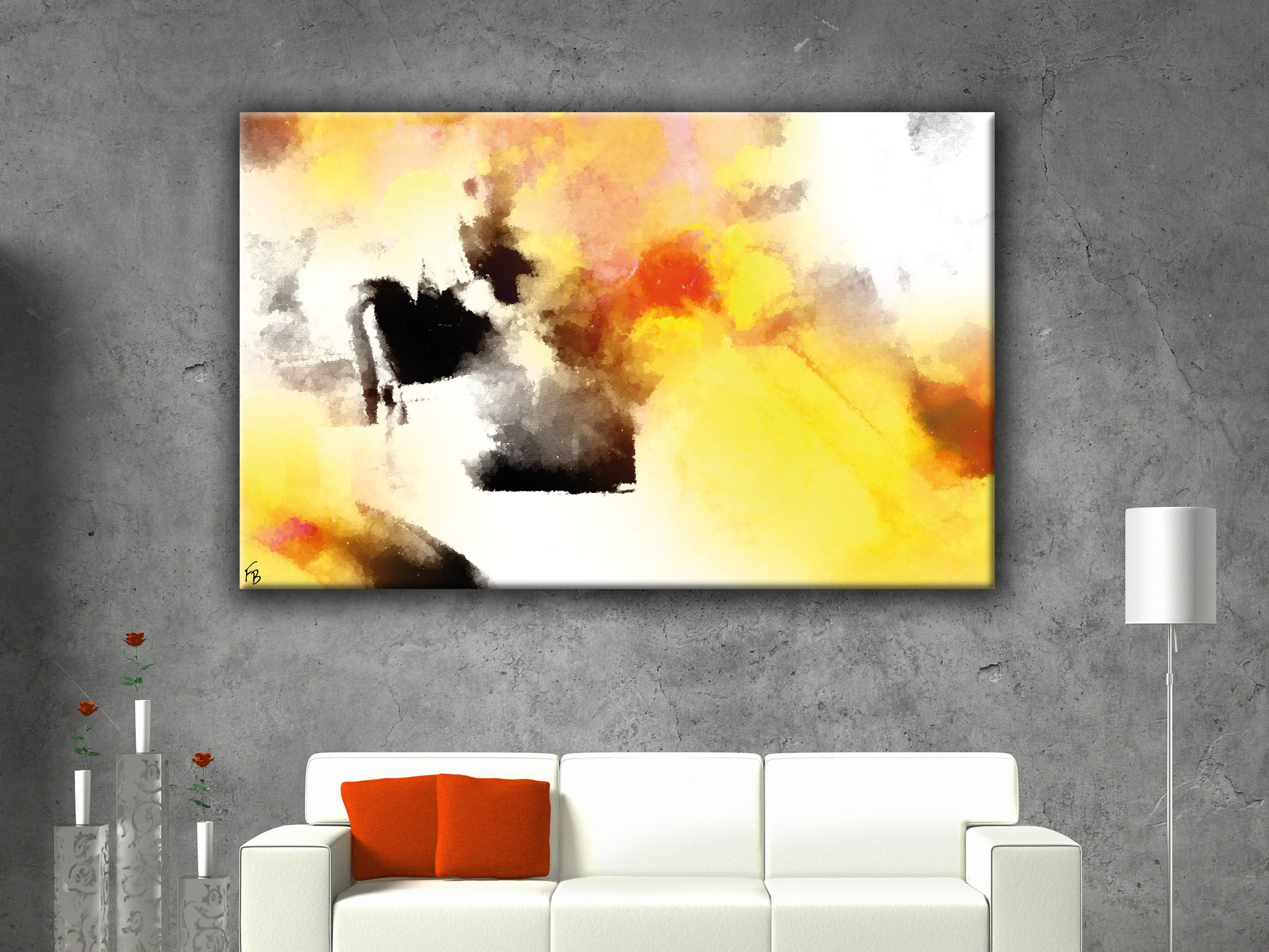 A reflection of your vibrant personality large minimalist art by