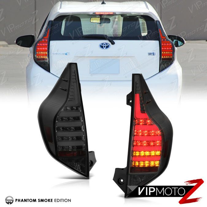Toyota 2012 2015 Prius C Aqua Nhp10 Tint Smoke Brake Tail Lights