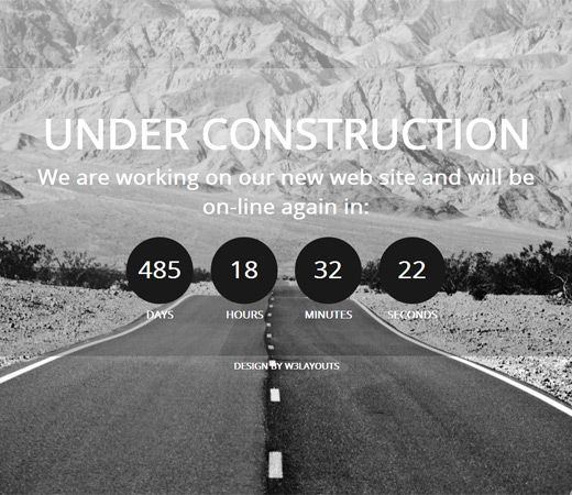 construct under construction free responsive html5 css3 mobileweb template