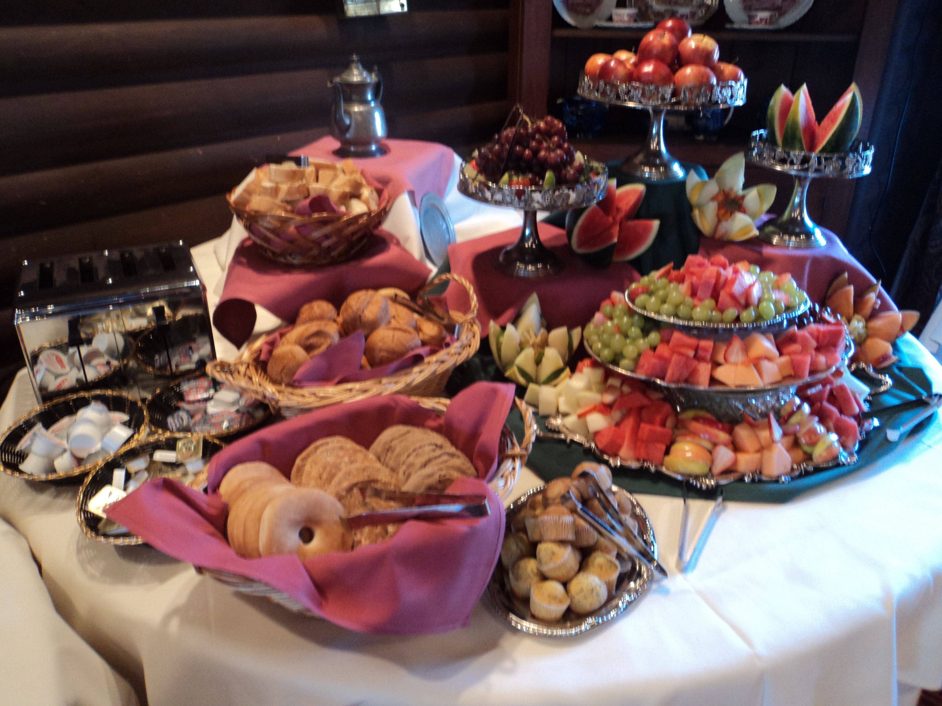 1000 images about continental breakfast ideas on for Food bar on church