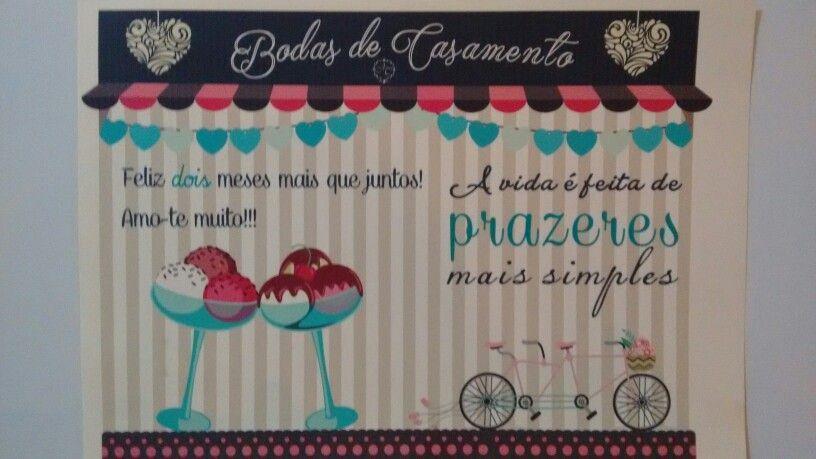 Pôster - 2 meses / bodas de sorvete