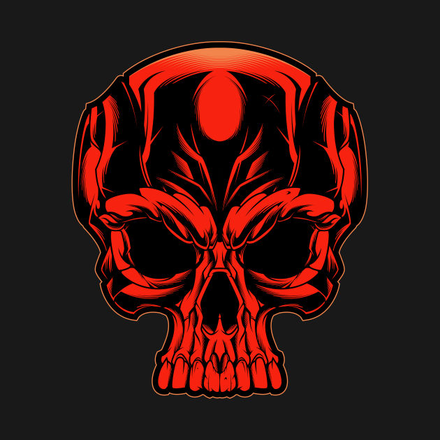 Check Out This Awesome Red Skull Design On Teepublic