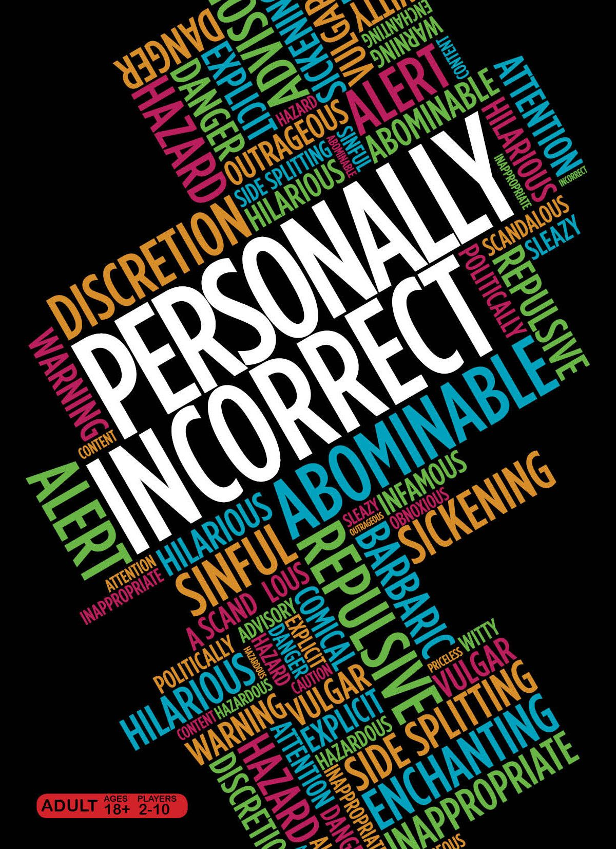 Personally Incorrect Party card games, Card games, Party