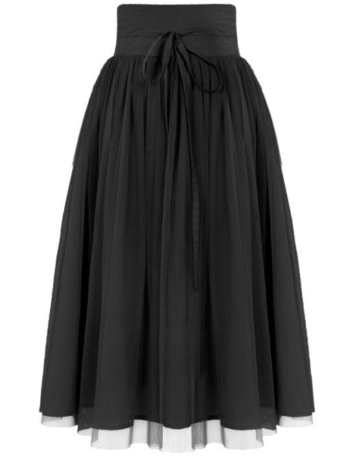 6dfedc316 Falda plisada malla cintura alta-negro 14.72 | ropa y accesorios en ...