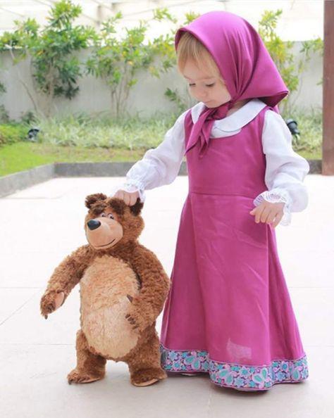 Masha E O Urso Disfraces Para Niños Disfraz De Masha