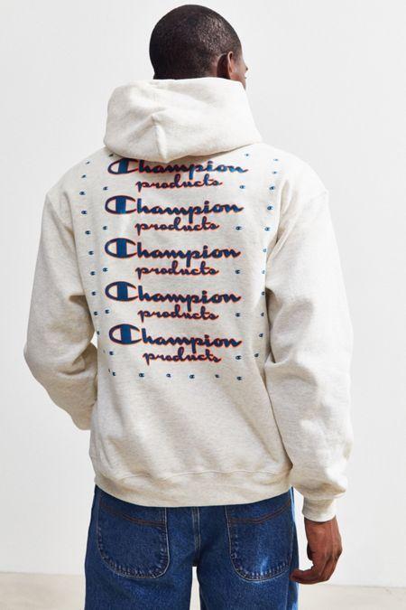 Champion UO Exclusive Neon Stacked Hoodie Sweatshirt ...