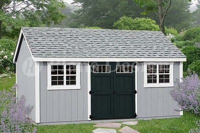 Garden Tool Storage Shed Plans 10 X 20 Gable Roof D1020g Free