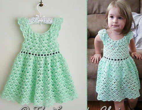 Vestido Tejido A Crochet Para Niñas De 6 Años Vestidos