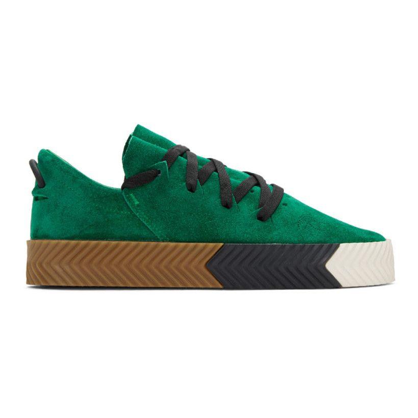 2417676a11e2b2 adidas Originals by Alexander Wang - Green Skate Sneakers ...