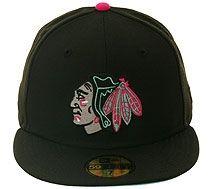 993f8458bd3 New Era 5950 Chicago Blackhawks Fitted Hat - Black
