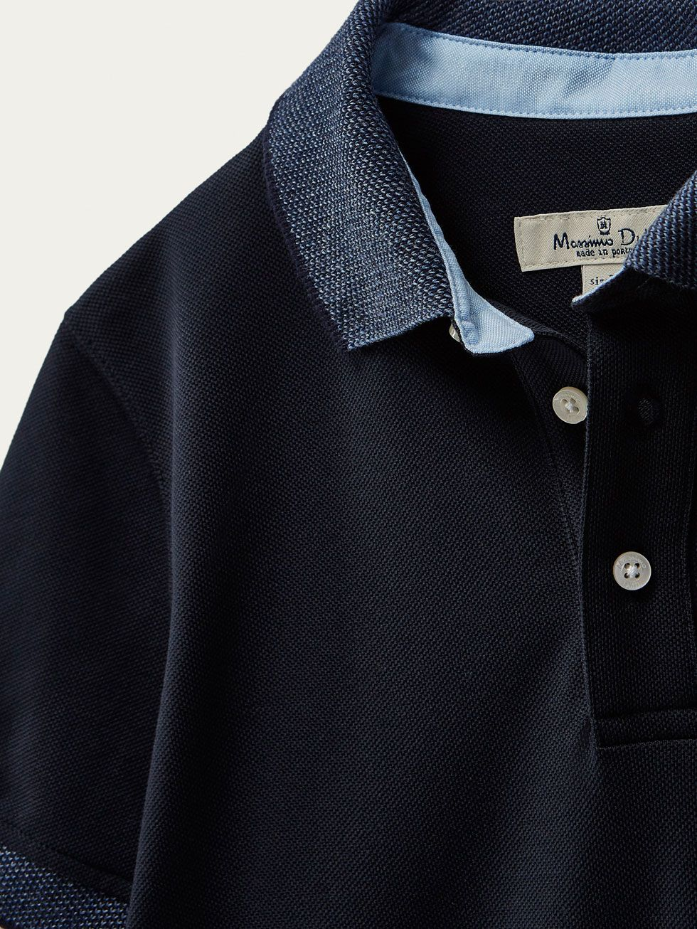 bb1480212 New In - NEW IN - Massimo Dutti Navy Blue Polo Shirts