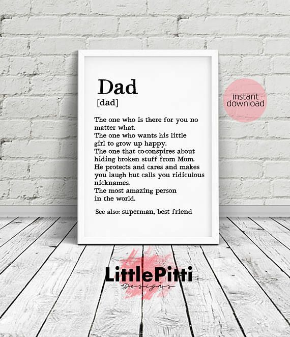 Dad Gifts Gift For Birthday Fathers Day Print Father