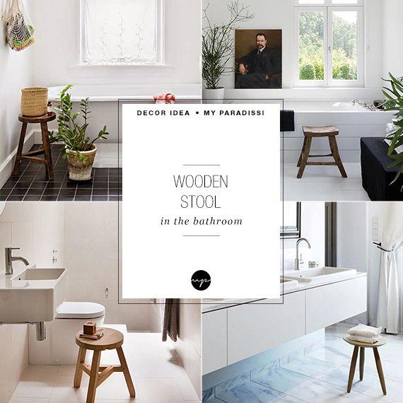 Decor Trend Wooden Bathroom Stool