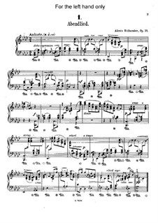 Six Piano Pieces For The Left Hand Op 31 Left Handed Piano Left
