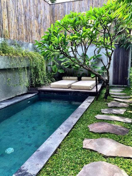Garden Small Swimming Pool Home Designs Inspiration In 2020 Small Backyard Landscaping Small Backyard Design Small Backyard Gardens
