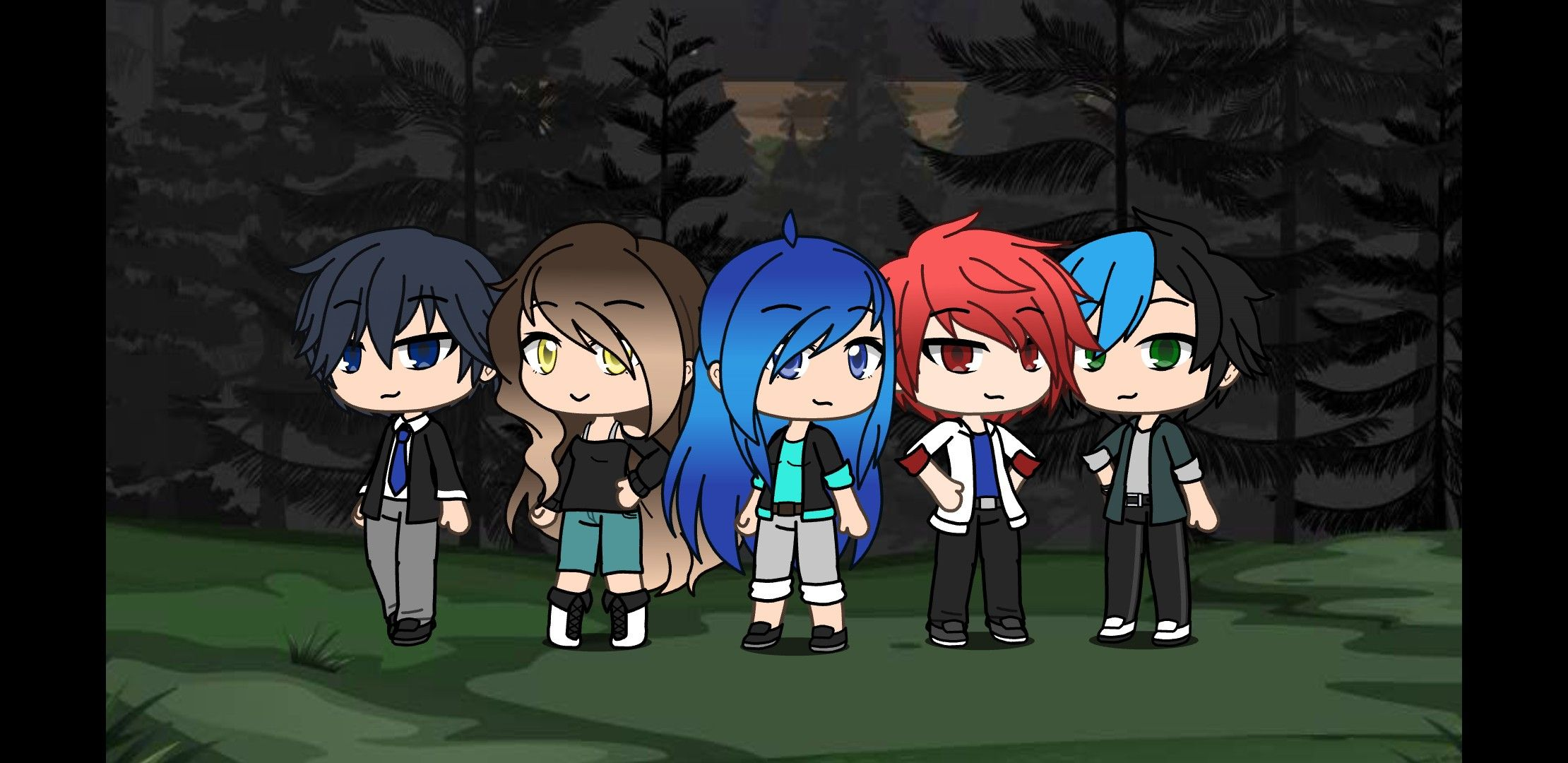 Itsfunneh Yandere Minecraft As Gacha And I Tried My Best To Make It Look Like Them But I Think It Looks Great Kawaii Girl Drawings Yandere Kawaii Girl