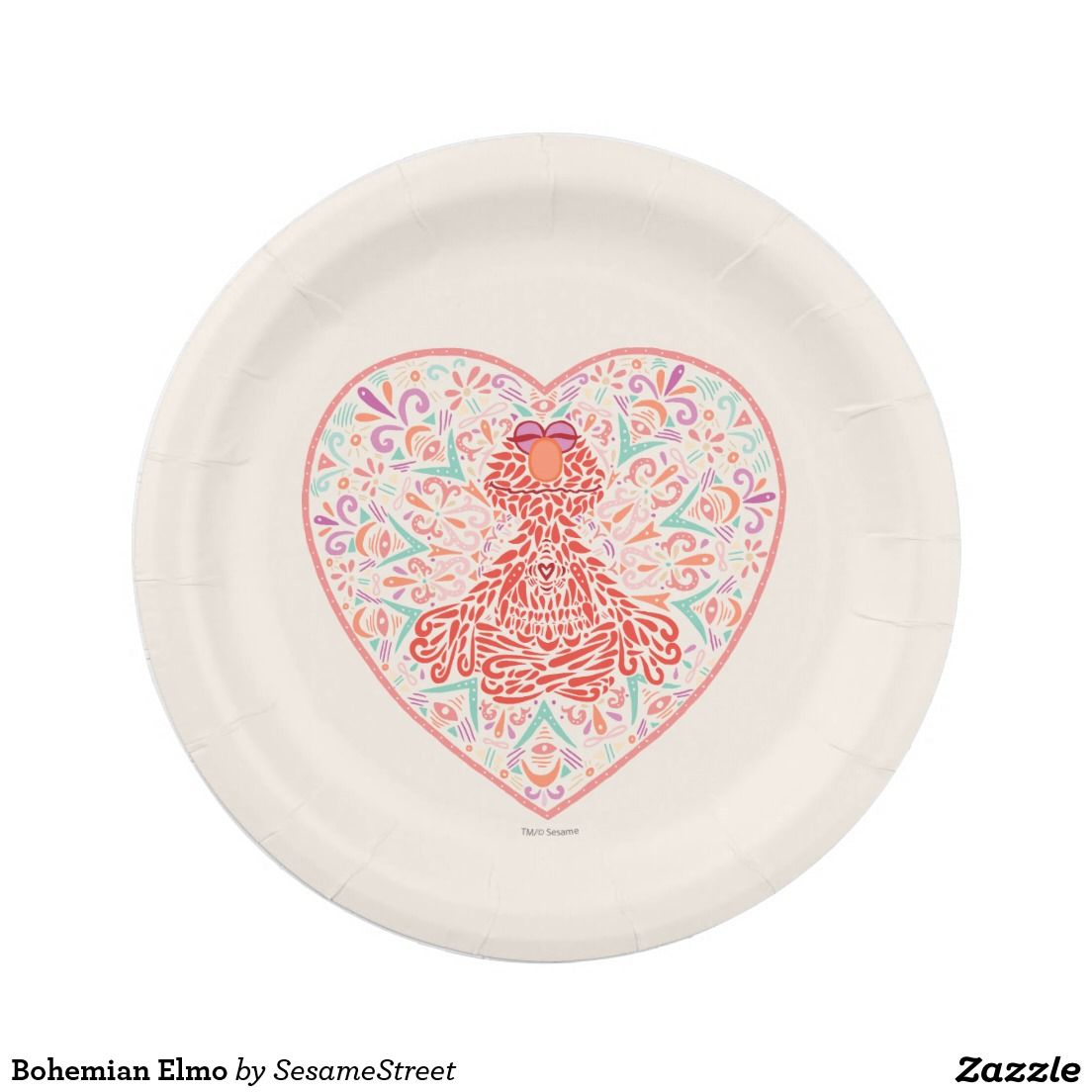 Bohemian Elmo Paper Plate  sc 1 st  Pinterest & Bohemian Elmo Paper Plate | Bohemian Paper and Plates