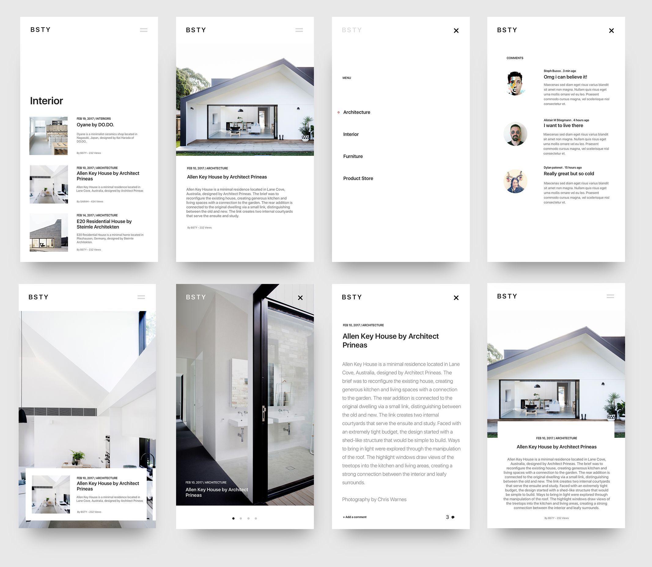 Blog Minimal Interior Design #MobileWebDesign