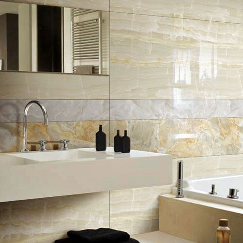 Bathroom Tiles Cream jurassic vein gold polished marble effect porcelain wall & floor
