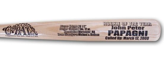 Personalized baseball baby gifts our rookie of the year baseball personalized baseball baby gifts our rookie of the year baseball bat celebrates the introduction of negle Images