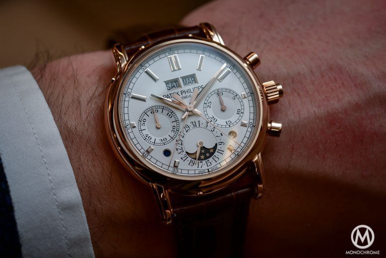 Hands-on - Patek Philippe 5204R Split-Seconds Chronograph Perpetual Calendar - Baselworld 2016 (live pics & price #monochromewatches Hands-on - Patek Philippe 5204R Split-Seconds Chronograph Perpetual Calendar - Baselworld 2016 (live pics & price) - Monochrome Watches #monochromewatches