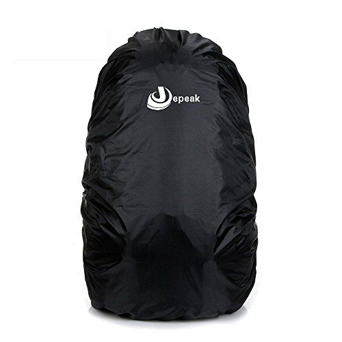 78efc5d60228 Jepeak 35L Nylon Waterproof Backpack Rain Cover Rucksack Water Resist Cover  for Hiking Camping Traveling Outdoor Activities Black *** Want additional  info?