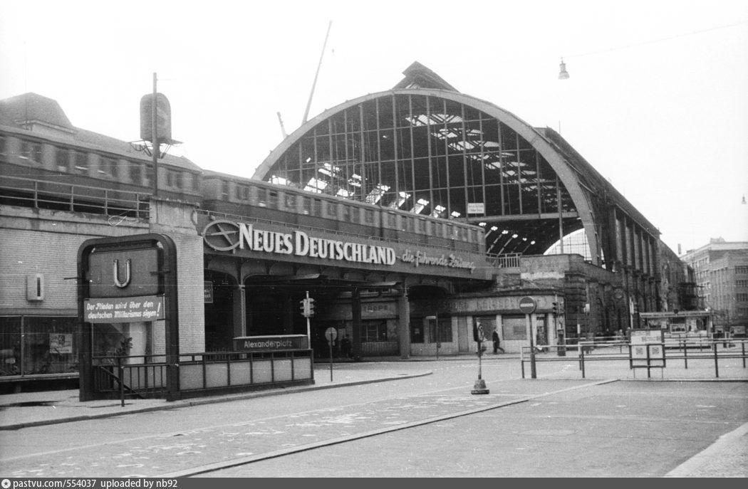 1962 Alexanderplatz Bahnhof Bahnhof S Bahn Strasse