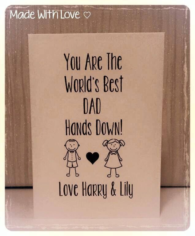 Card, Fathers Day, Daddy, Best Daddy, Best Daddy Card, Personalised Fathers Day Card, Humour, Dad, Personalised by MadeWithLoveKirstie on Etsy https://www.etsy.com/listing/233165887/card-fathers-day-daddy-best-daddy-best
