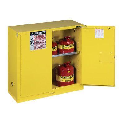 "Justrite Sure-Grip 44""H x 43""W x 18""D  2 Door EX Flammable Safety Cabinet"