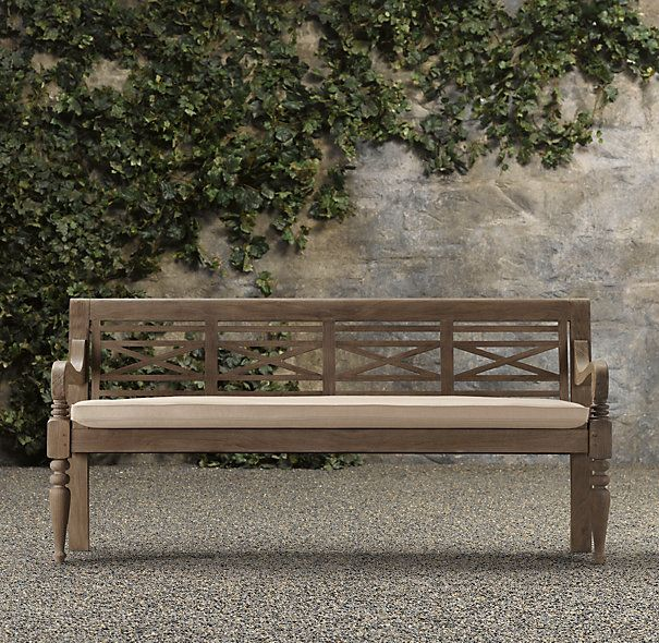 19th C Chippendale Bench From Restoration Hardware
