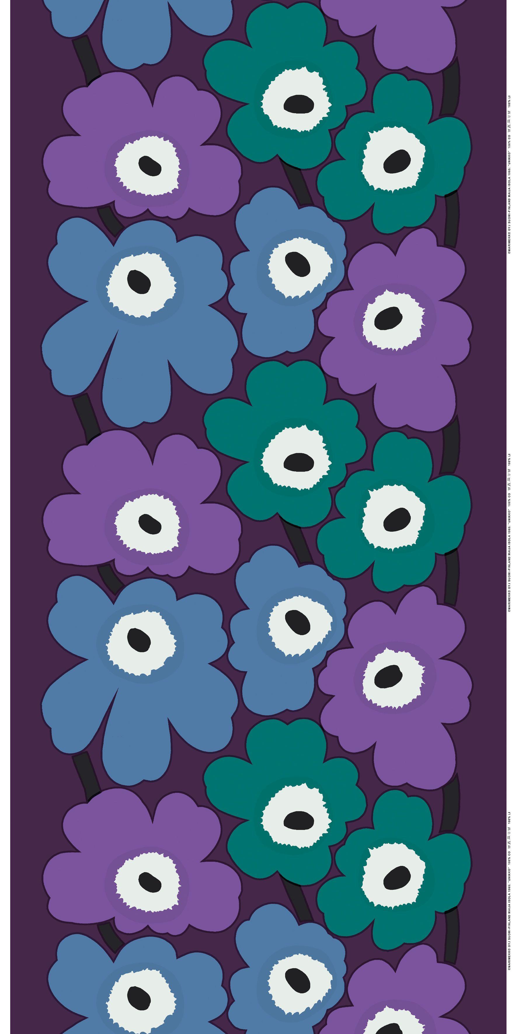 unikko pattern blue black multi design marimekko pinterest marimekko marimekko fabric. Black Bedroom Furniture Sets. Home Design Ideas