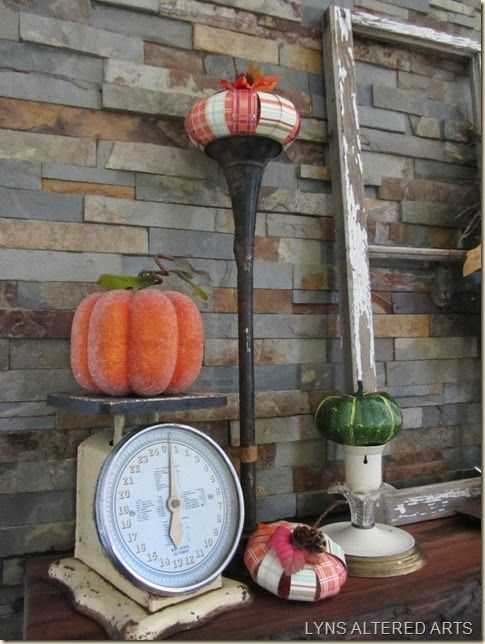MY FALL MANTEL AND TEXTURE TUESDAY -- by Lyn's Altered Arts
