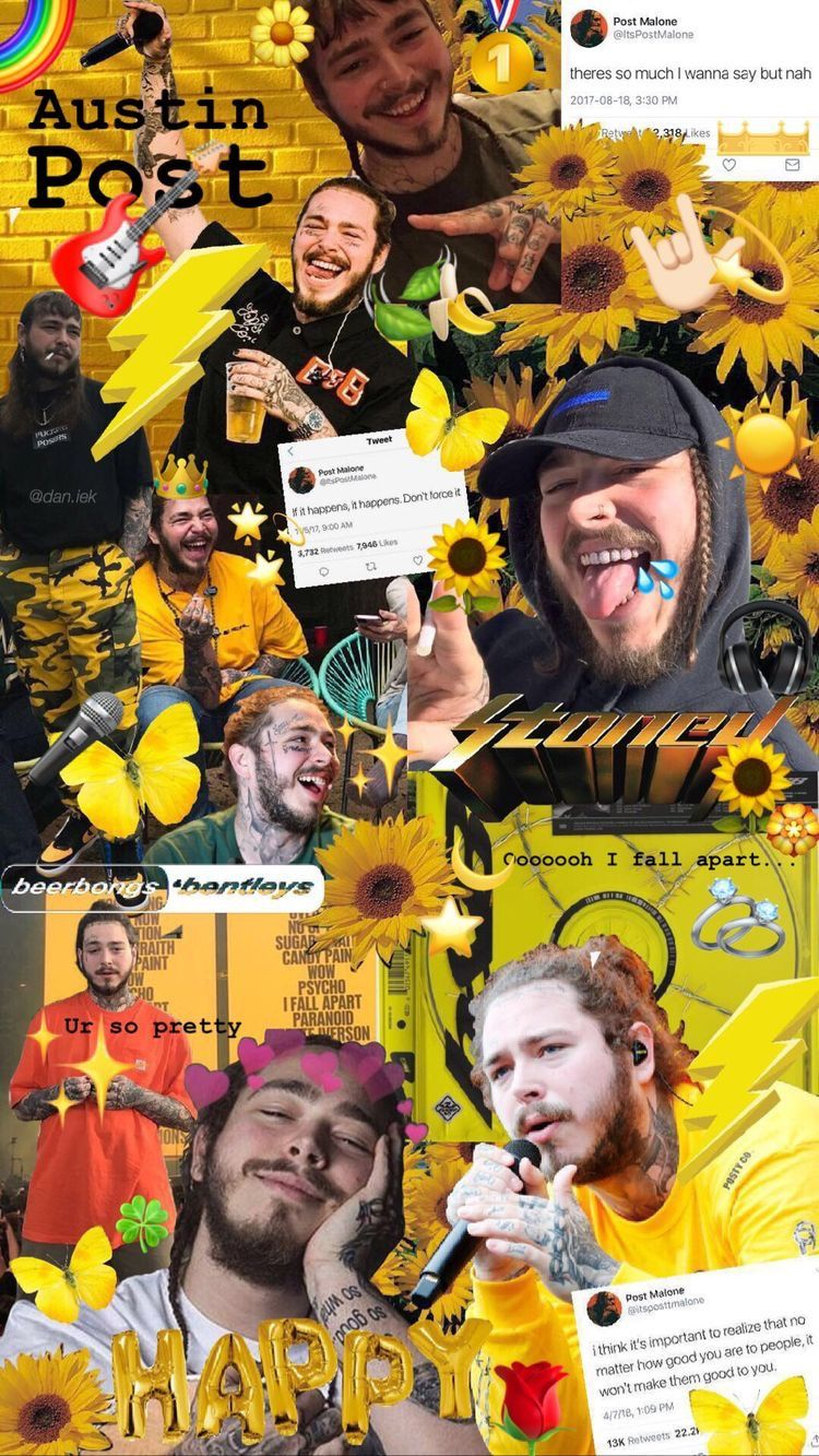 Pin By Z3r On Fondos Aestetic Post Malone Wallpaper Rapper Wallpaper Iphone Post Malone