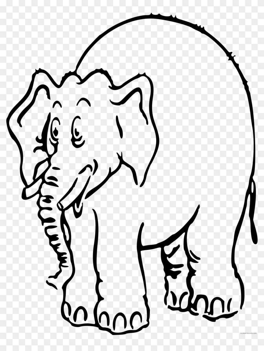 36++ Elephant clipart black and white outline info
