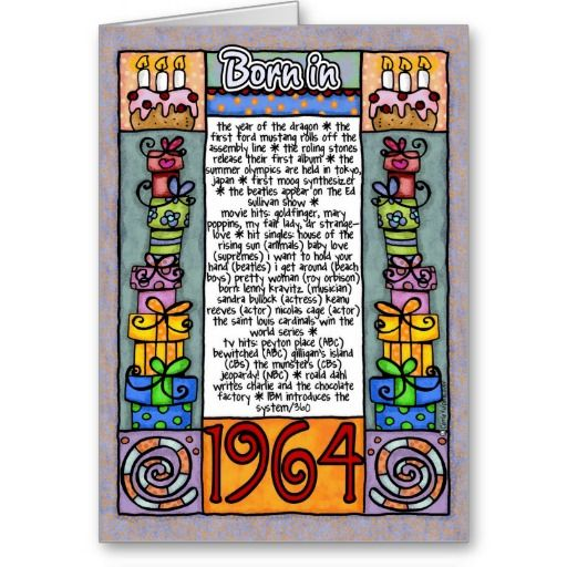 Fun facts birthday born in 1964 greeting cards 50th fun facts birthday born in 1964 greeting cards birth yearbirthsgreeting bookmarktalkfo Gallery