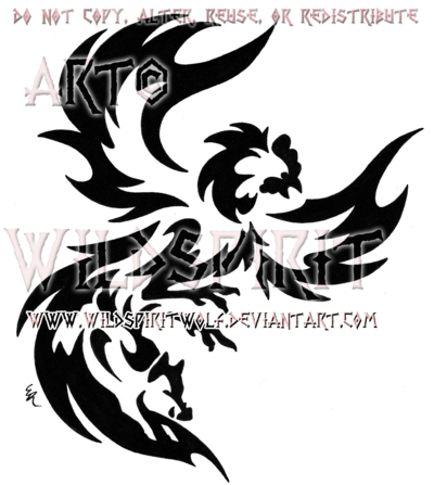 Rooster And Boar Tribal Design by *WildSpiritWolf