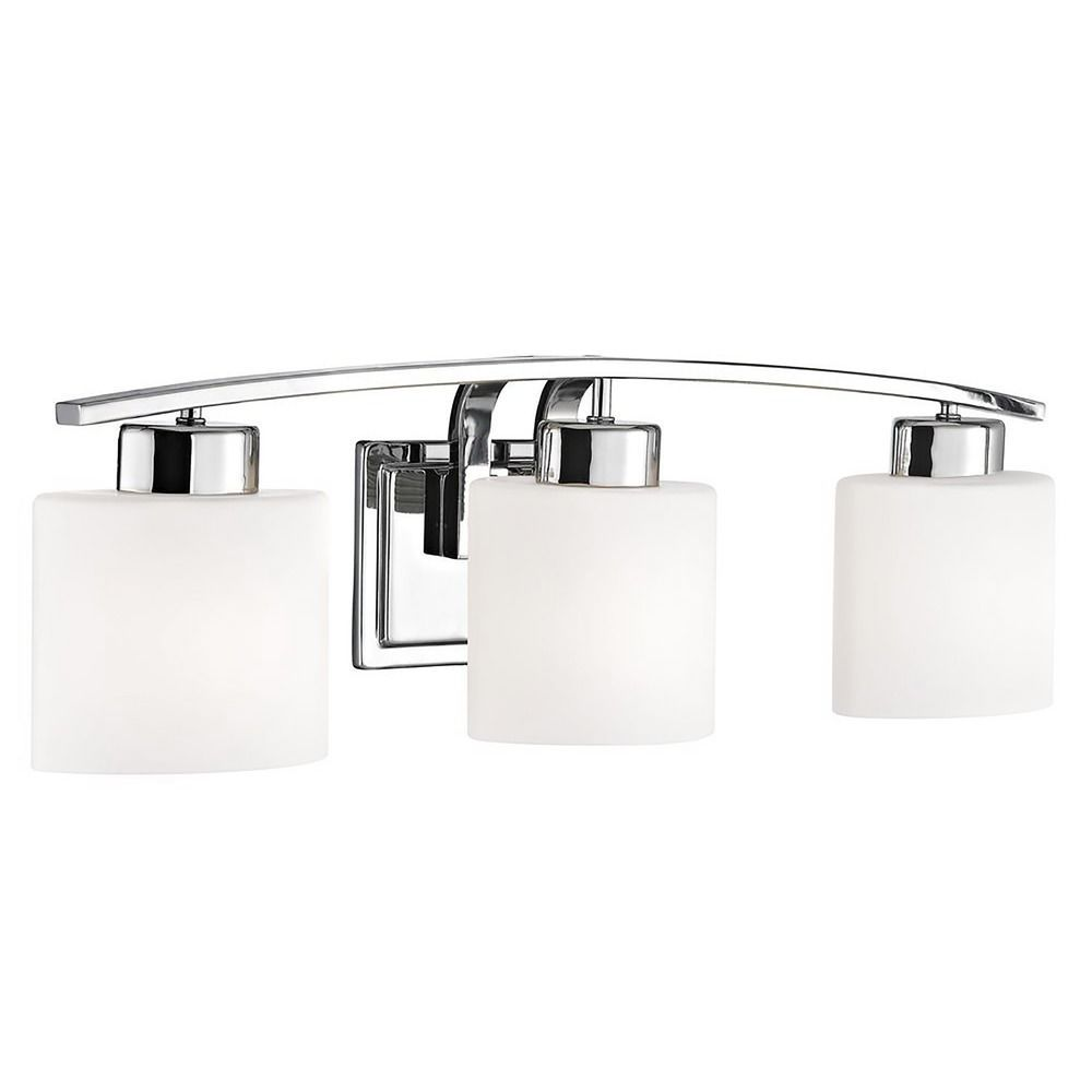 Chrome Bathroom Wall Light With White Oval Glass Three Lights At Destination Lighting In 2020 Chrome Bathroom Wall Lights Bathroom Wall Lights