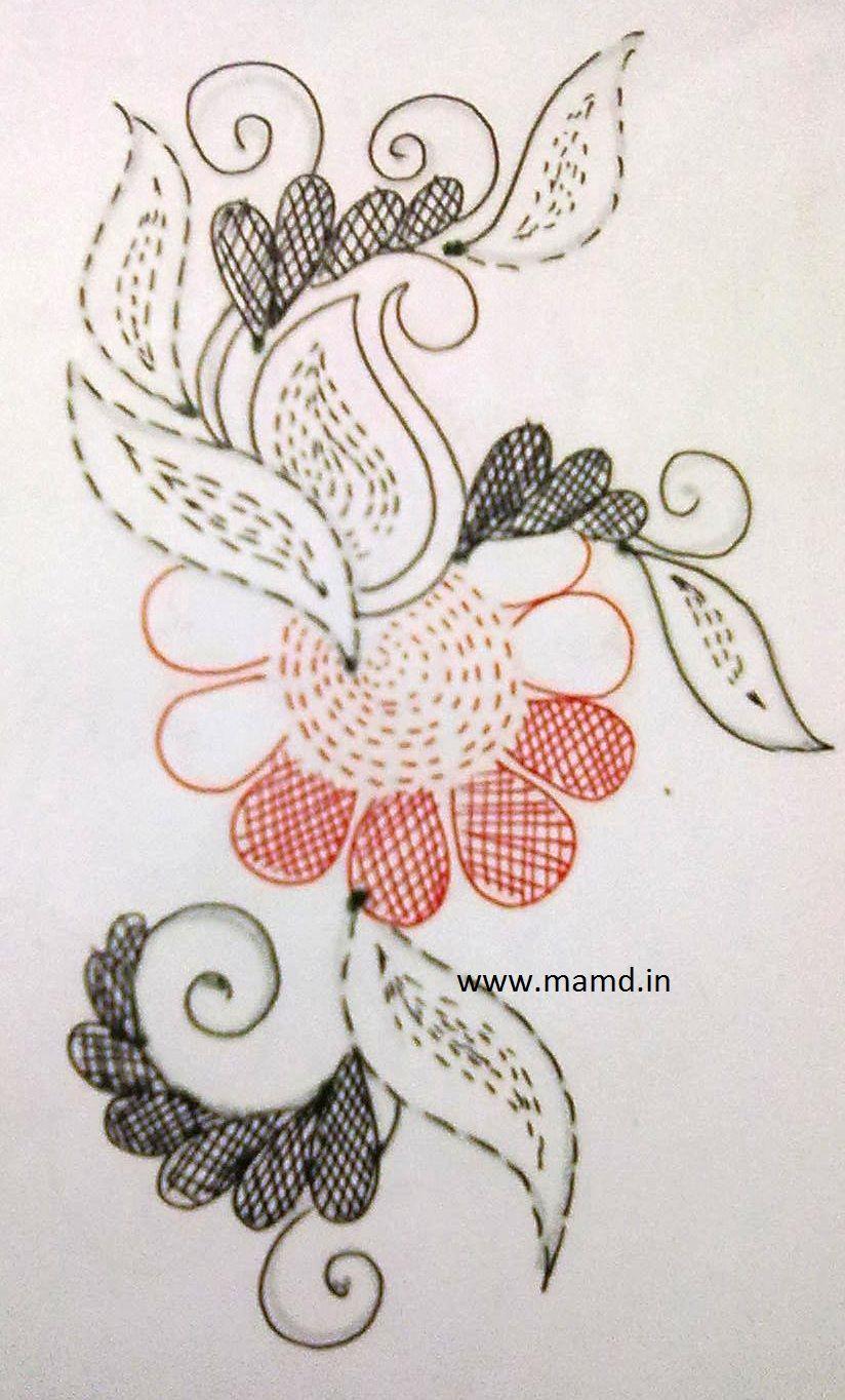 Kantha embroidery work pinterest