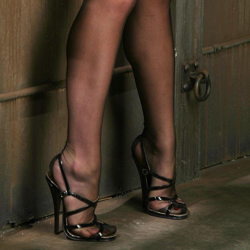 heels high Sexy girls wearing nude