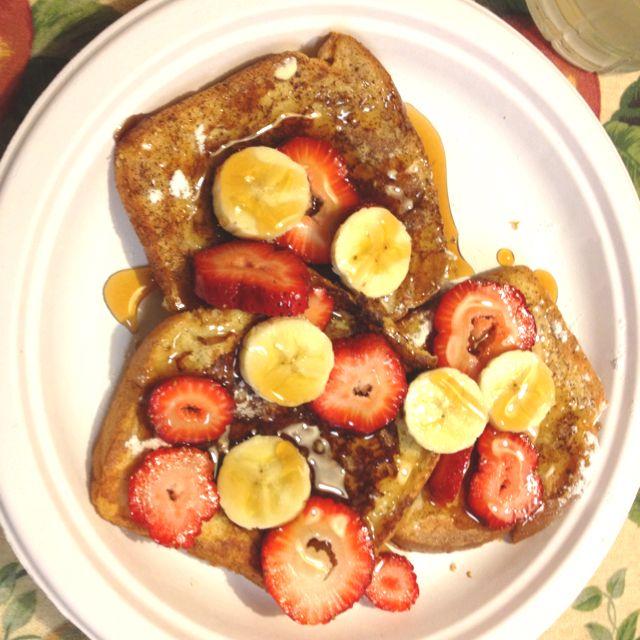 Strawberry, banana french toast