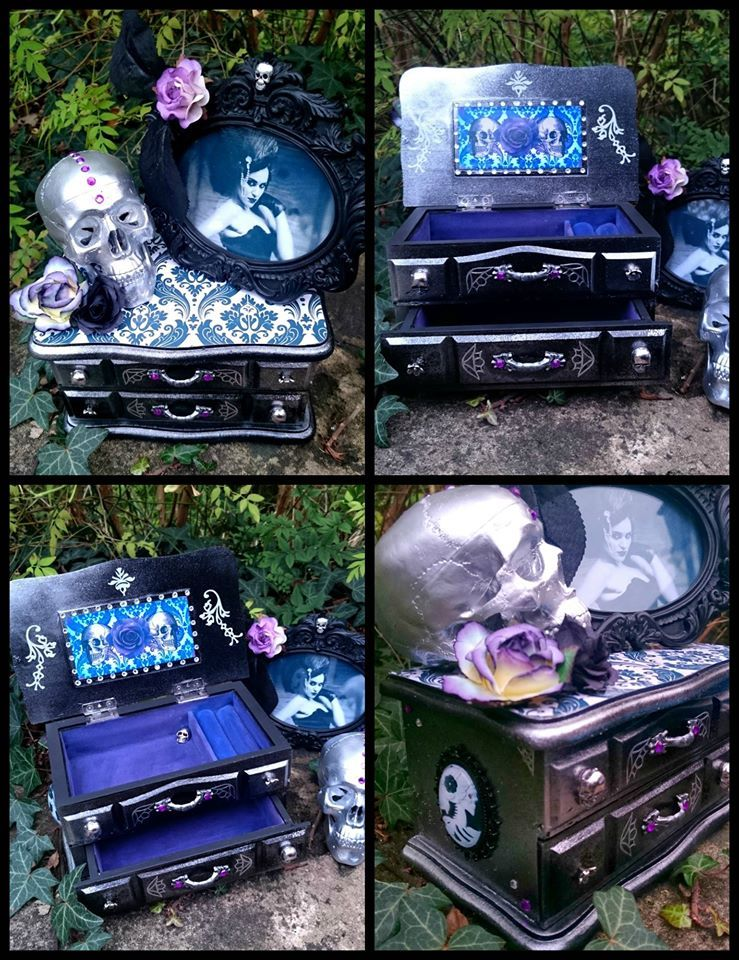 gothic burlesque jewellery box goth stuff pinterest totenk pfe kommode und m bel. Black Bedroom Furniture Sets. Home Design Ideas