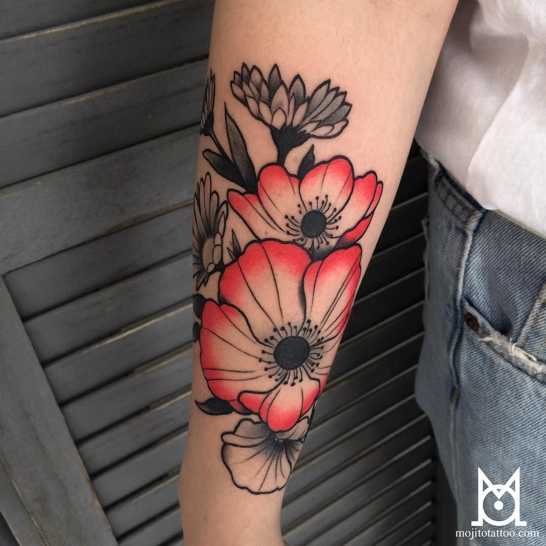 Love The Color On These Poppies Tattoos Pinterest Tattoo