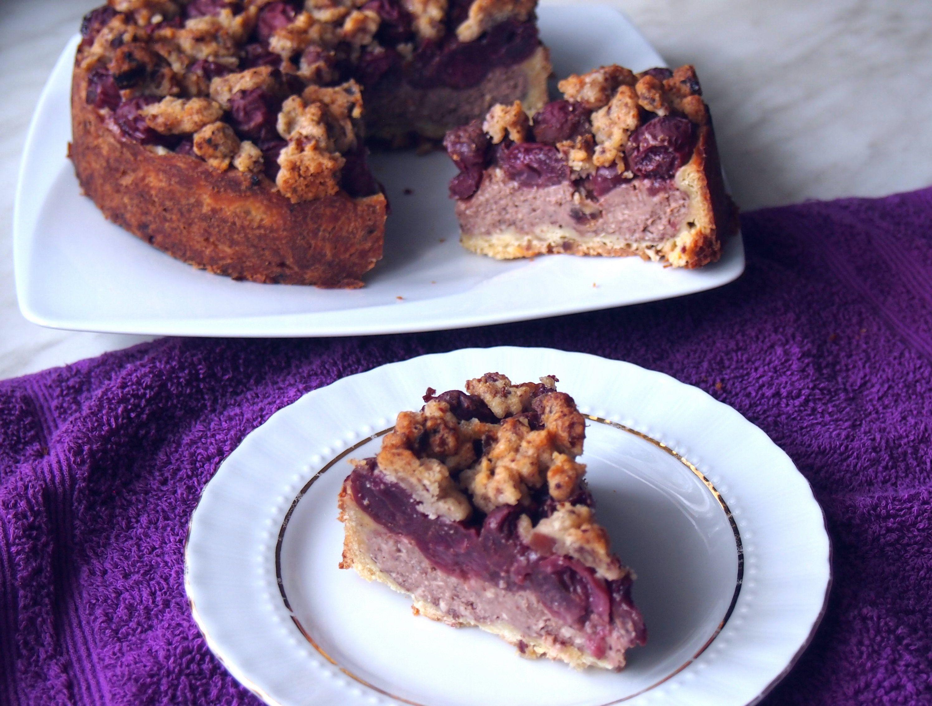 Kirschkuchen Mit Schoko Nuss Pudding Rezept Kirschkuchen Kuchen Lebensmittel Essen