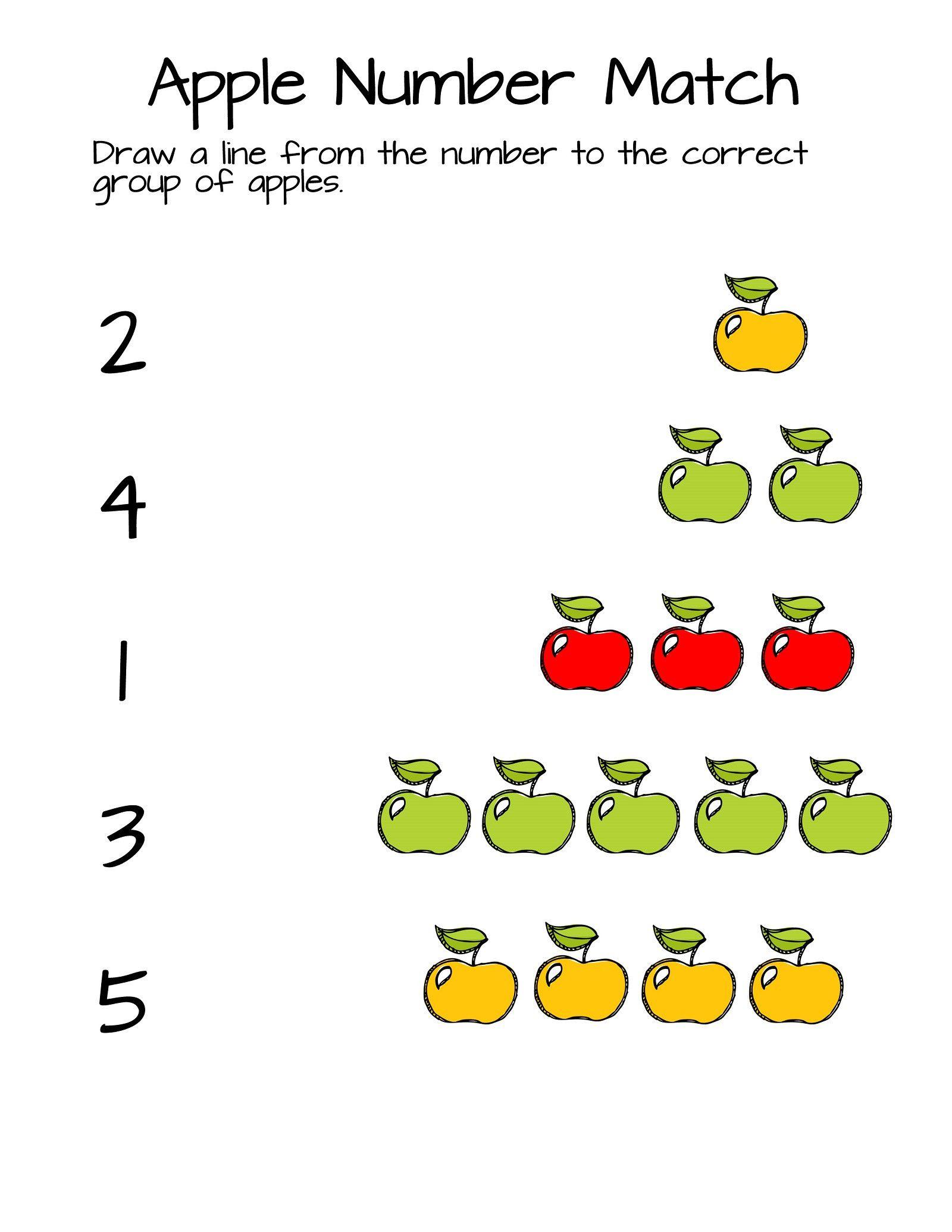 Pre Kindergarten Worksheets Numbers
