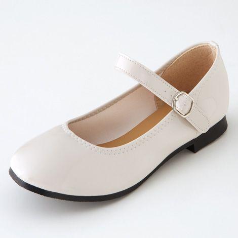 ストラップ付き2WAYフラットパンプス(ワイズ4E) 通販 【ニッセン】 大きいサイズ 靴