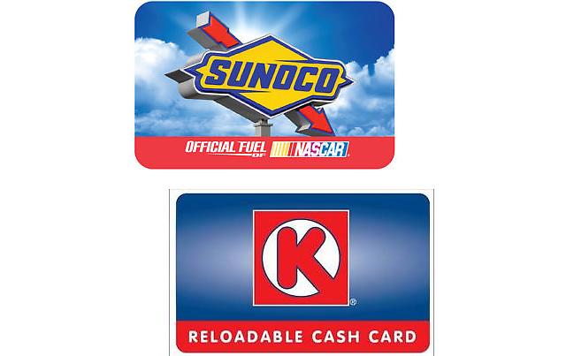 $50 Gas Gift Cards (Sunoco Circle K Conoco Phillips 66