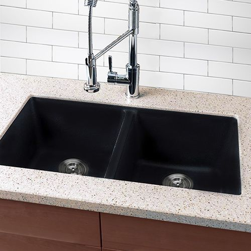 Luxury black granite posite sink Exterior Dimensions 32 inches x 20 inches $256 Idea - Beautiful black granite Pictures