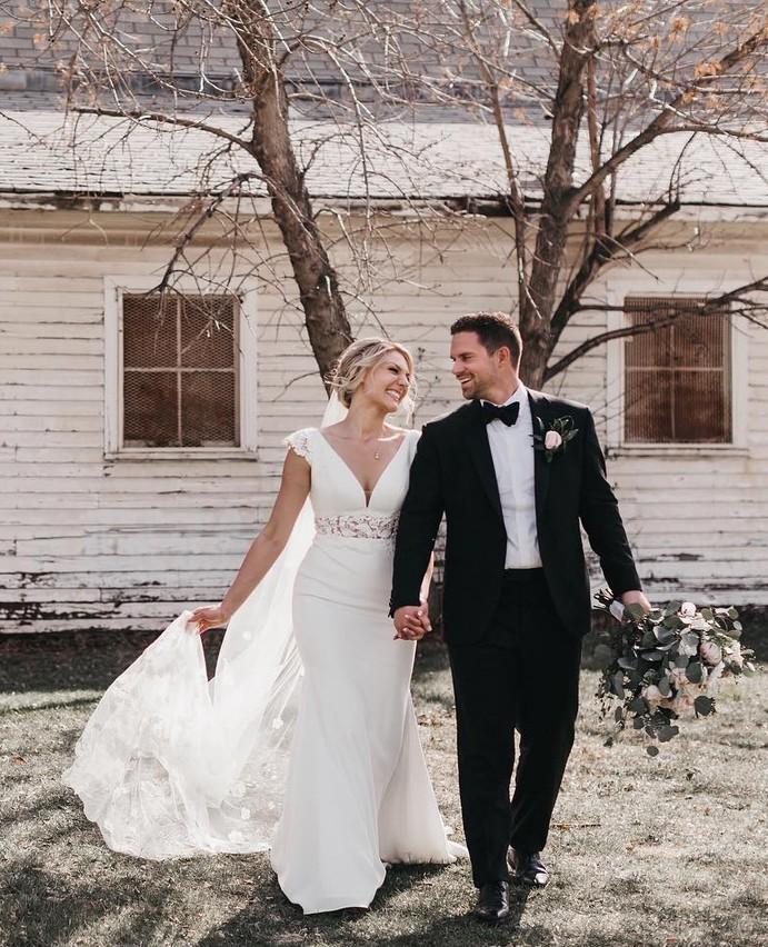 Sheer Midriff Wedding Dress Style 2181 Mikaella Bridal